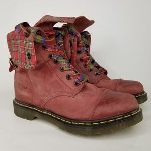118f34419c396 Dr. Martens Aimilie Fold-Down Leather Boots 10 Red